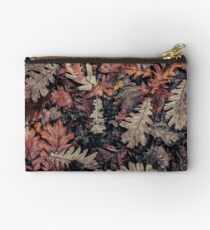 Dried Autumn Leaves - HD Nature Zipper Pouch