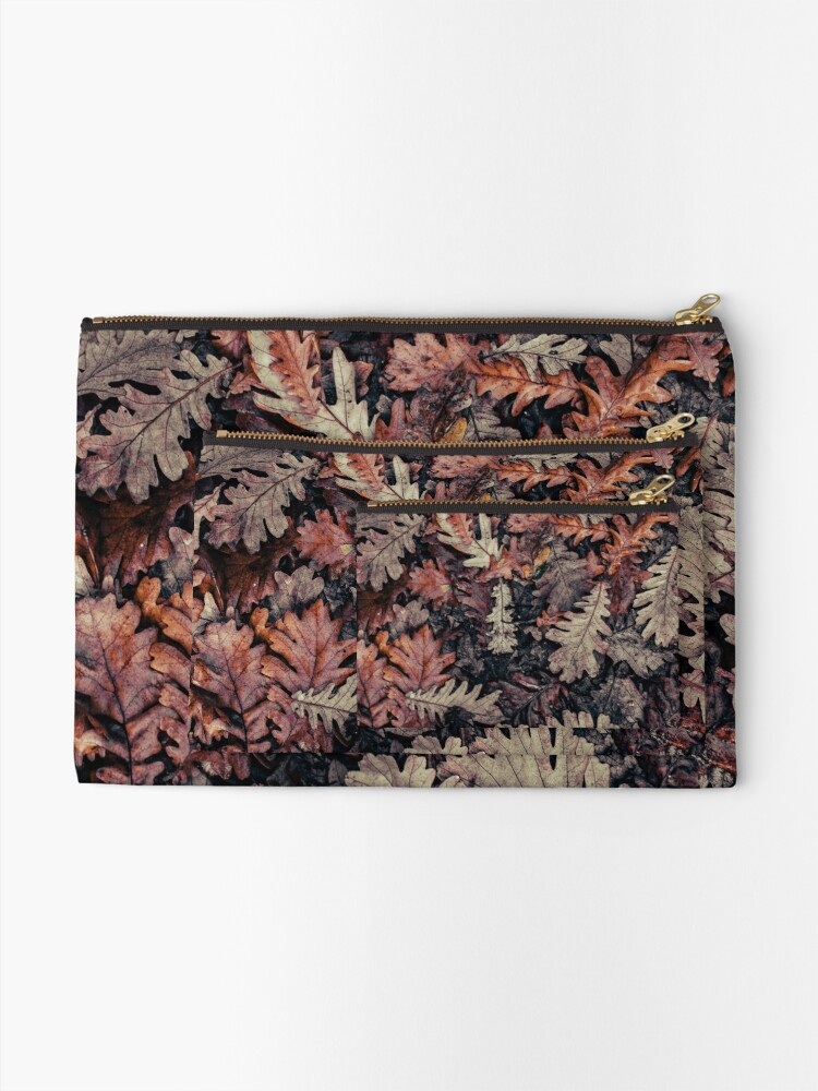 Alternate view of Dried Autumn Leaves - HD Nature Zipper Pouch