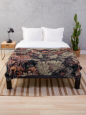 Dried Autumn Leaves - HD Nature Throw Blanket