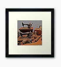 Vintage Sewing Machines Framed Print