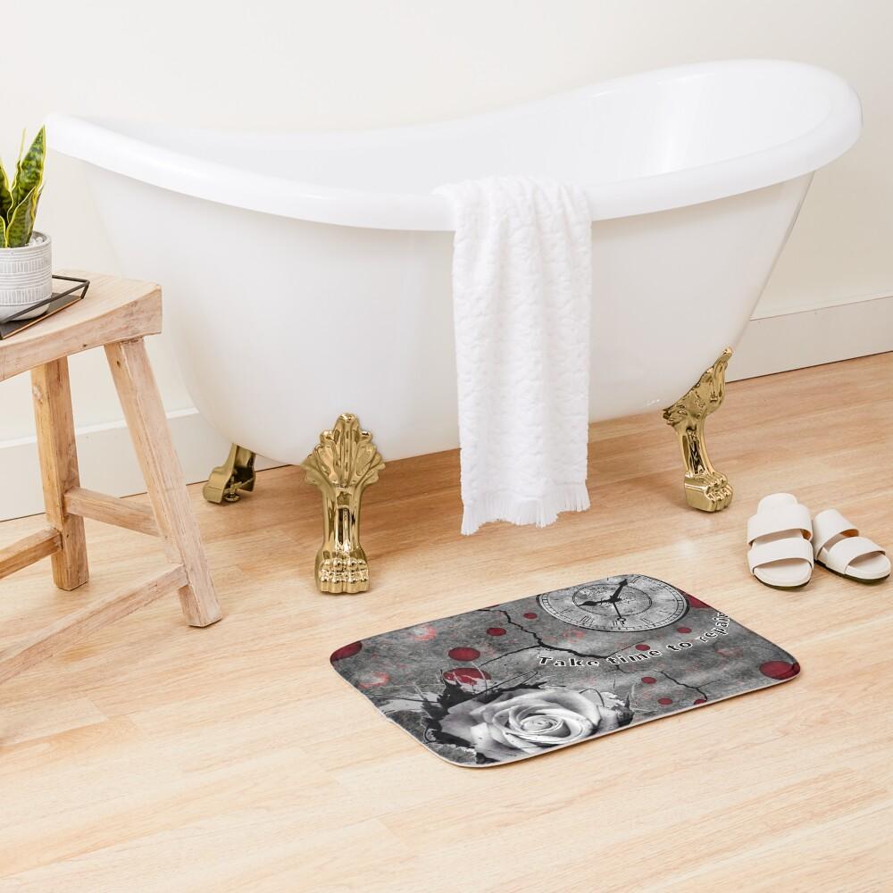 Trash Polka No 12. Digital Collage  Bath Mat
