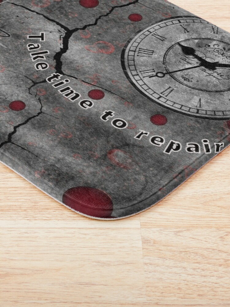 Alternate view of Trash Polka No 12. Digital Collage  Bath Mat