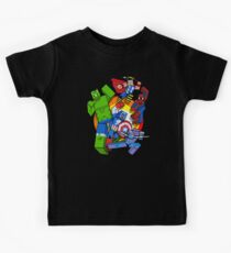 Cute Cube superheroes Group Kids Clothes