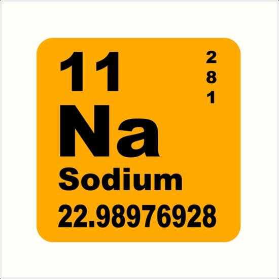 Sodium periodic table of elements art prints by walterericsy sodium periodic table of elements by walterericsy urtaz Choice Image
