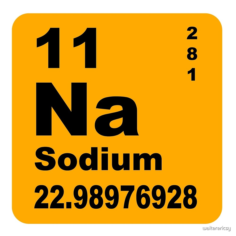 Sodium periodic table of elements by walterericsy redbubble sodium periodic table of elements by walterericsy gamestrikefo Images