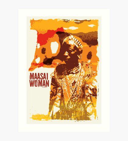 Maasai woman Art Print