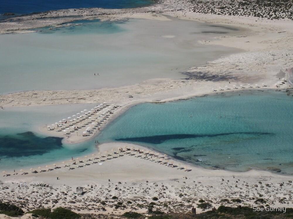 Beautiful Lagoon in Crete by Sue Gurney
