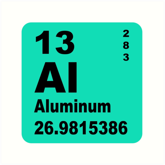 """""""Aluminium Periodic Table Of Elements"""" Art Prints By"""
