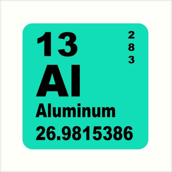 Aluminium Periodic Table Of Elements Art Prints By Walterericsy