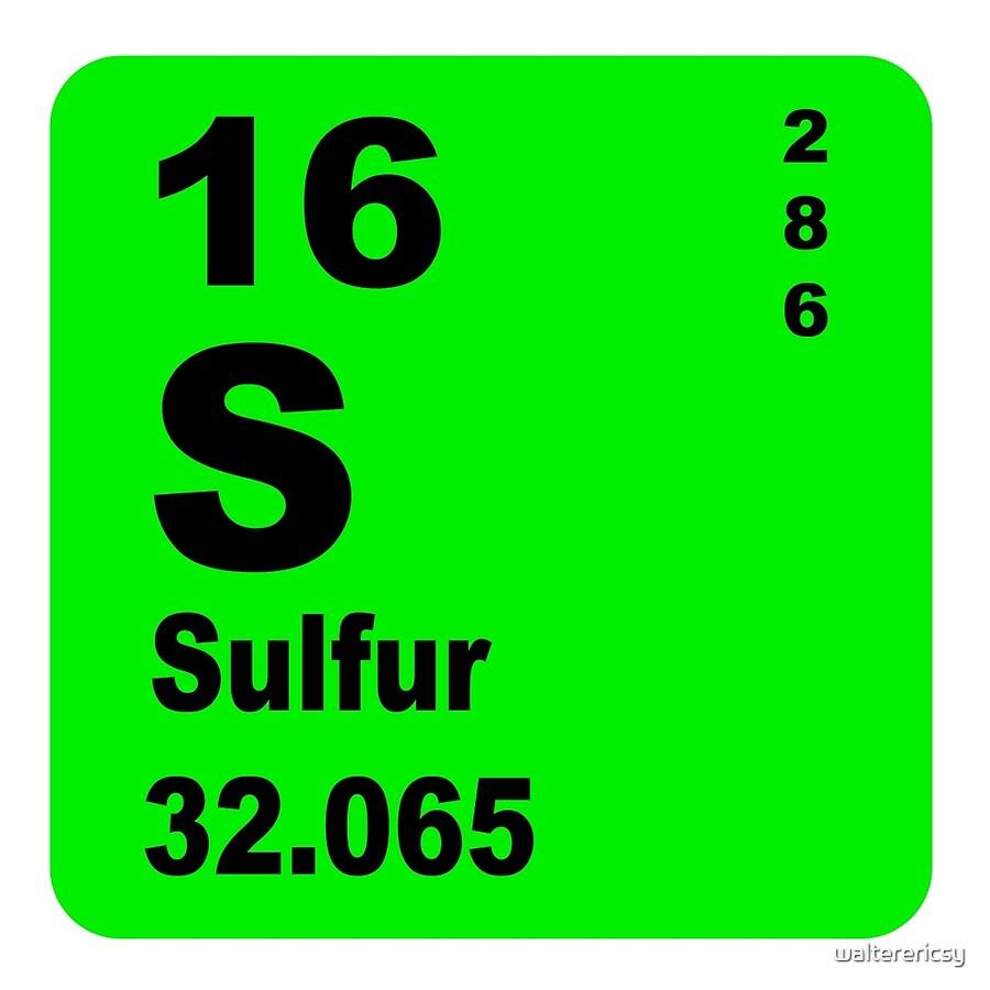 Sulfur periodic table of elements acrylic blocks by walterericsy sulfur periodic table of elements gamestrikefo Choice Image