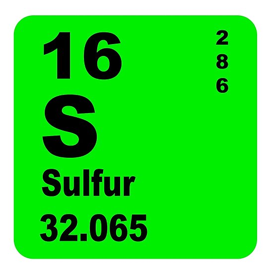Sulfur Periodic Table Of Elements Photographic Prints By