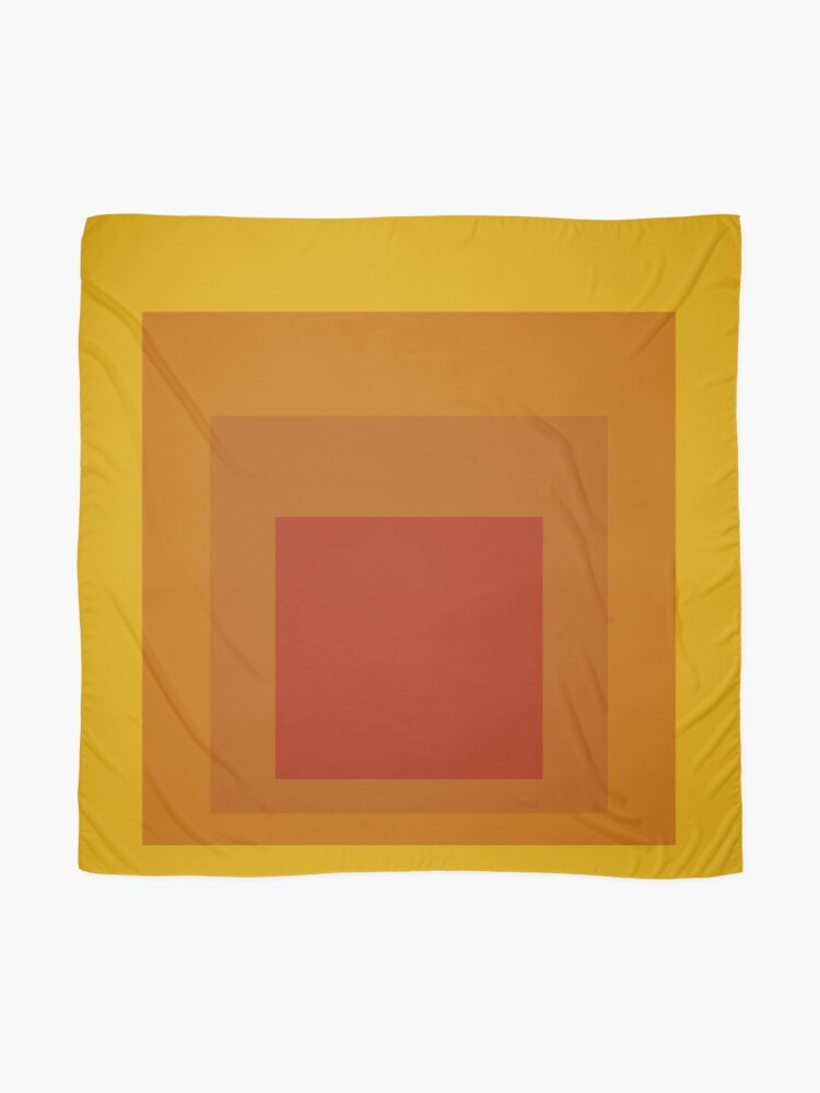 Alternate view of Block Colors - Yellow Orange Red Scarf