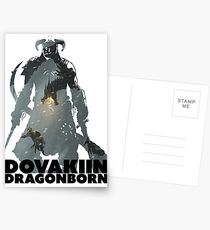 Dovakiin/Dragonborn Art Decal Postcards