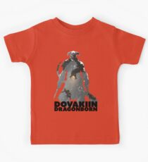 Dovakiin/Dragonborn Art Decal Kids Tee