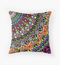 Wedding Festivities Mandala Zentangle Throw Pillow