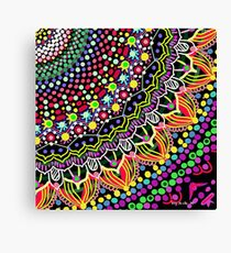 Wedding Festivities Mandala Zentangle Canvas Print
