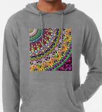 Wedding Festivities Mandala Zentangle Lightweight Hoodie