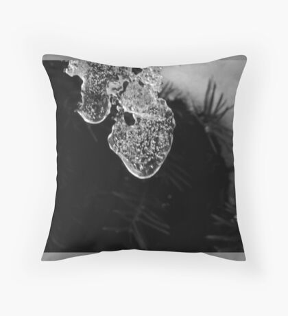 Icecles in the garden  Throw Pillow