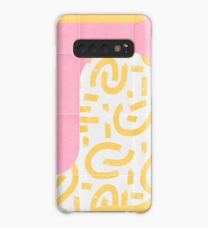 Sunny Doodle Tiles 02 #redbubble #midmod Case/Skin for Samsung Galaxy