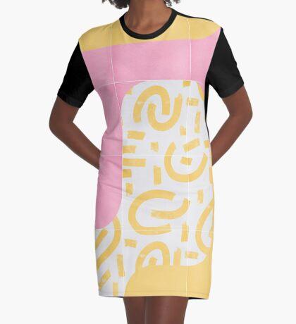 Sunny Doodle Tiles 02 #redbubble #midmod Graphic T-Shirt Dress