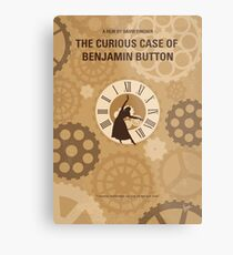 No1068 Mein neugieriger Fall von Benjamin Button minimales Filmplakat Metallbild