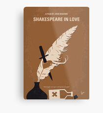 No1071 Mein SHAKESPEARE IN LOVE minimales Filmplakat Metallbild