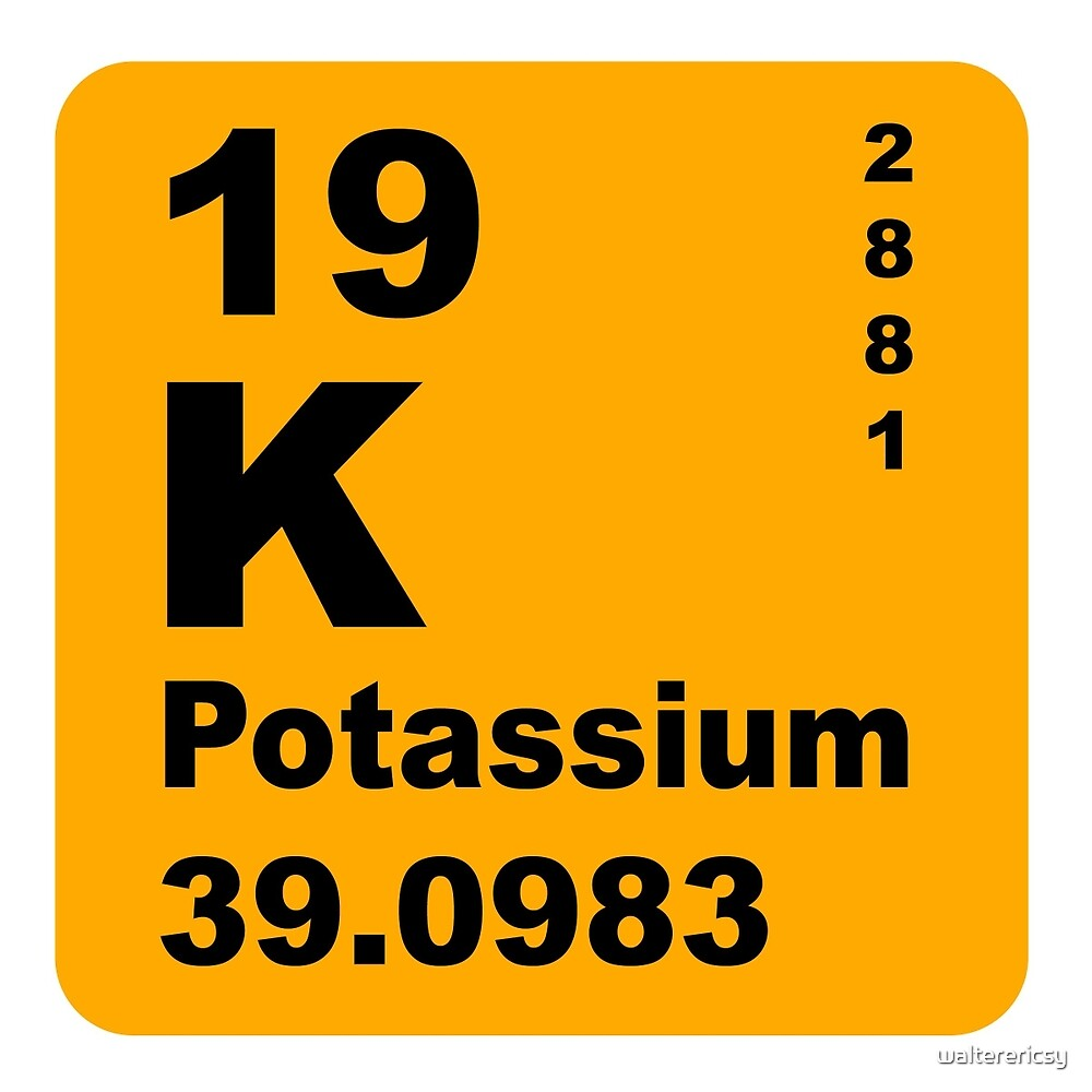 Potassium periodic table of elements by walterericsy redbubble potassium periodic table of elements by walterericsy buycottarizona