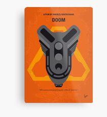 No1075 Mein Doom Minimal Movie Poster Metallbild