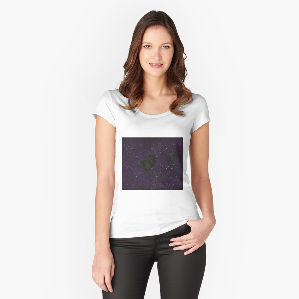 Asteroid  Fitted Scoop T-Shirt