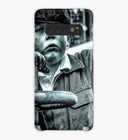Boy on a traction engine  Case/Skin for Samsung Galaxy