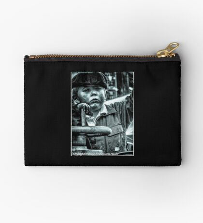 Boy on a traction engine  Studio Pouch