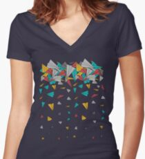 Flying paper planes  Fitted V-Neck T-Shirt