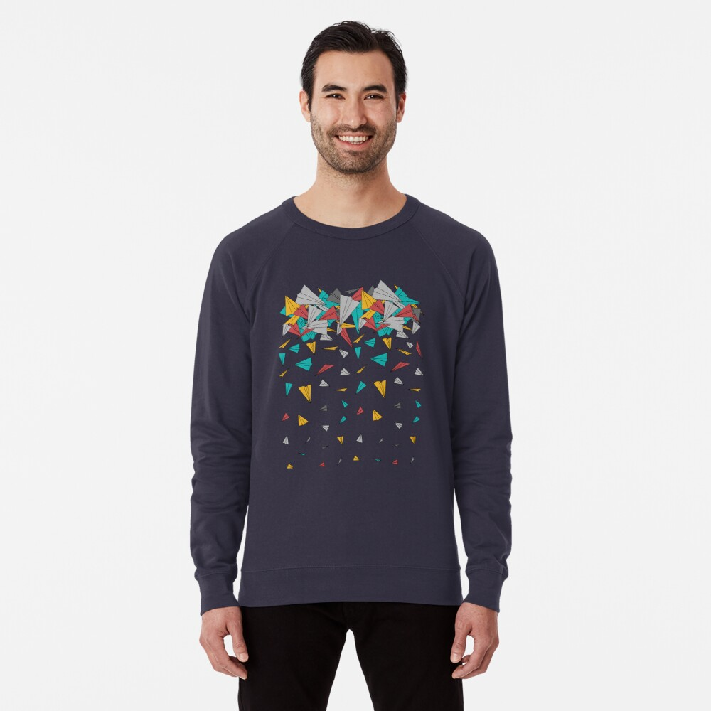 Flying paper planes  Lightweight Sweatshirt