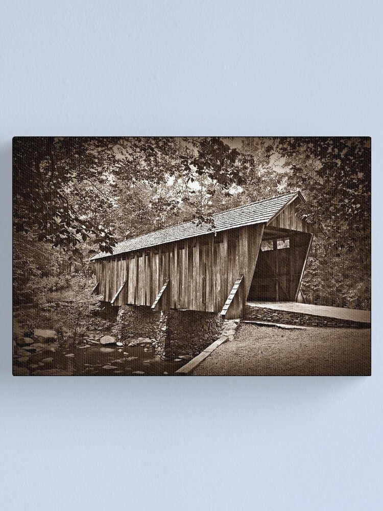 Alternate view of The Pisgah Covered Bridge Canvas Print