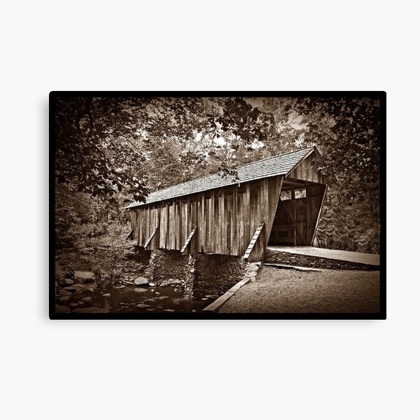The Pisgah Covered Bridge Canvas Print