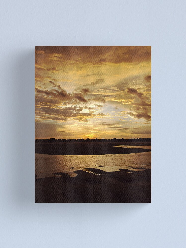 Alternate view of Sunset on the Beach Canvas Print