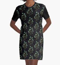 Flower Spray Graphic T-Shirt Dress