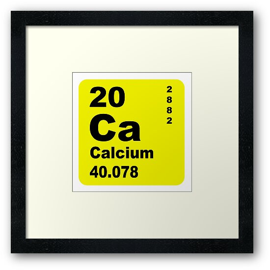 Calcium Periodic Table Of Elements Framed Prints By Walterericsy