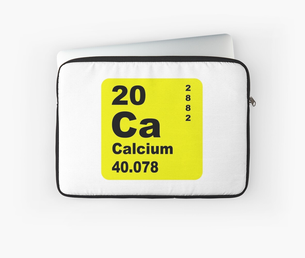 Calcium periodic table of elements laptop sleeves by walterericsy calcium periodic table of elements by walterericsy biocorpaavc