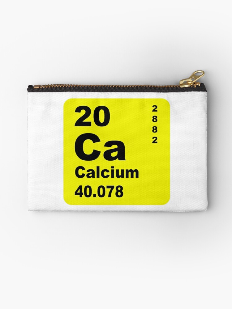 Calcium Periodic Table Of Elements Studio Pouches By Walterericsy