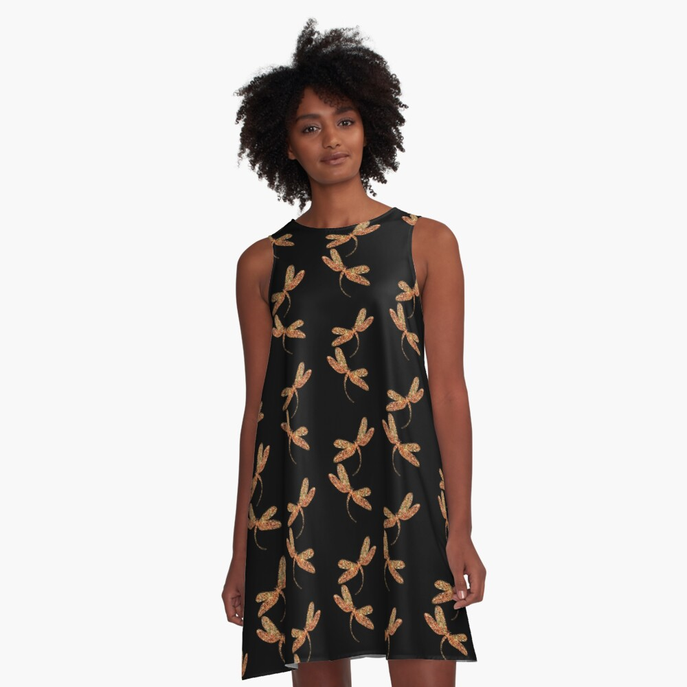 Dragonflies in Flight A-Line Dress