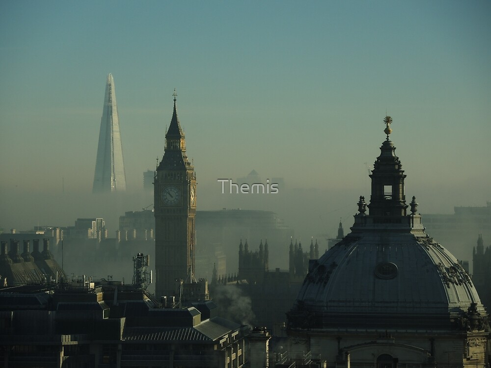 London morning dirty fog by Themis
