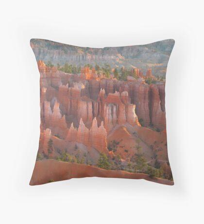 Bryce Canyon morning glory Throw Pillow
