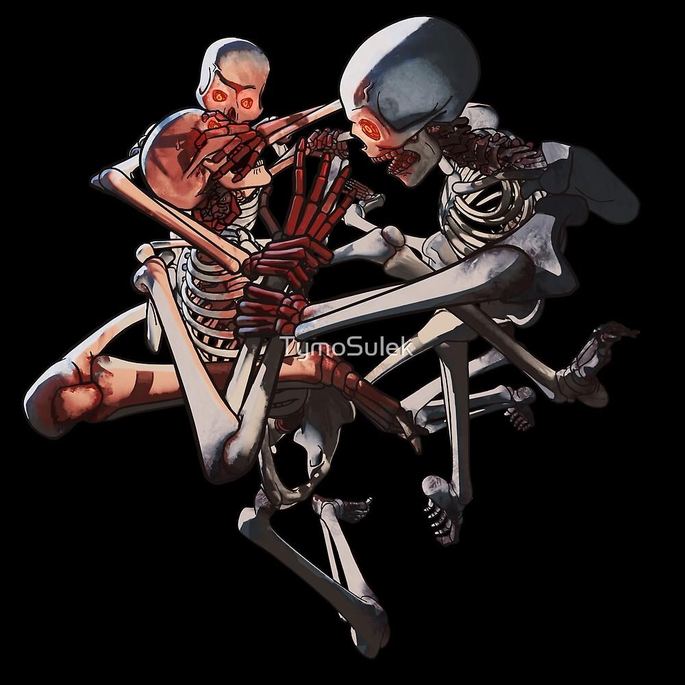 Skeletons!   Graveyard   Blood Red   by TymoSulek