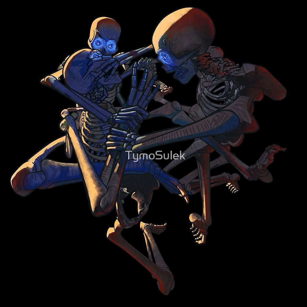 Skeletons!   Graveyard   Ice Blue   by TymoSulek