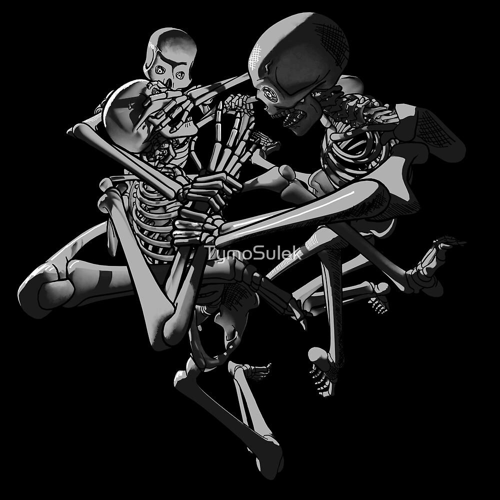 Skeletons!   Graveyard   Grey   by TymoSulek