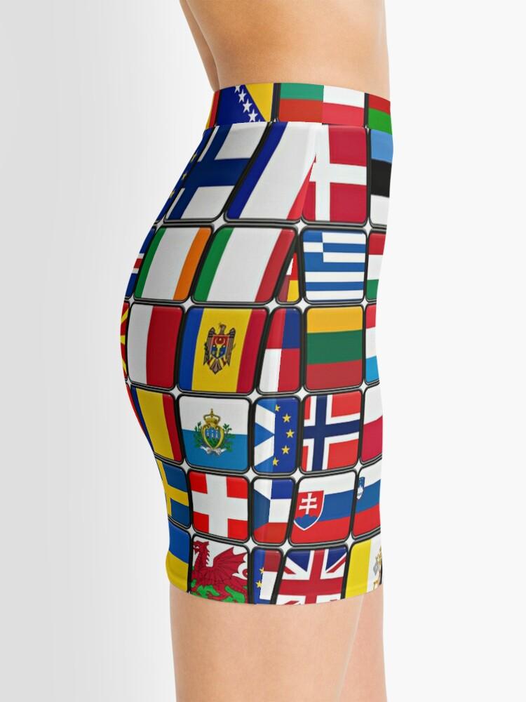 Alternate view of International Flag Collage Mini Skirt