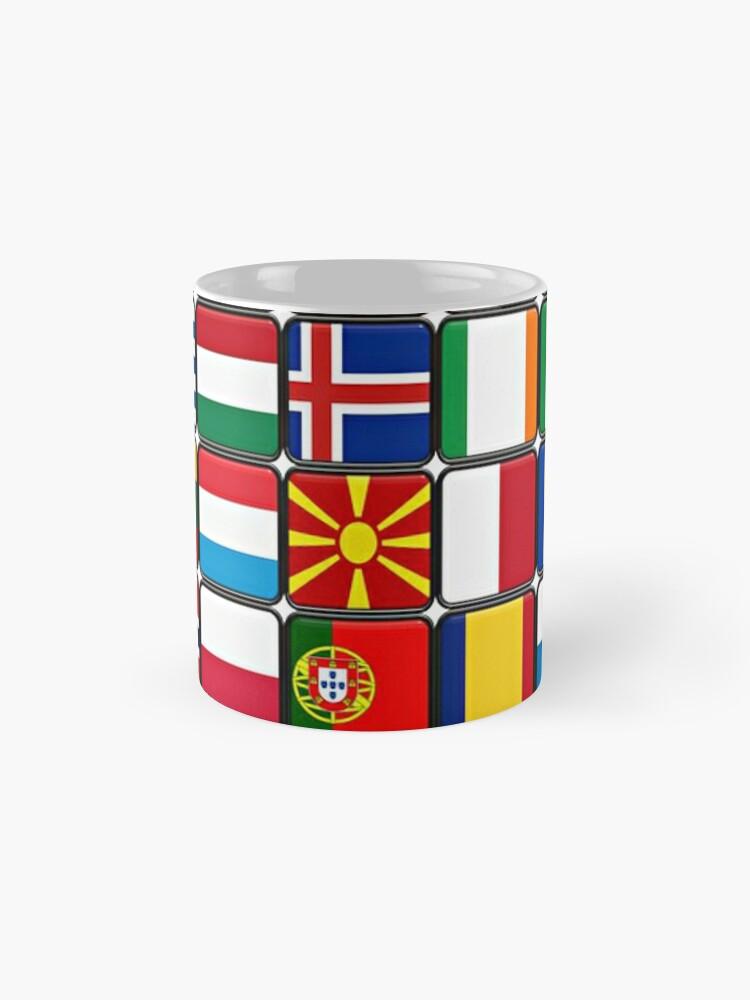 Alternate view of International Flag Collage Mugs