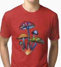 Cluster of Colored Shrooms Tri-blend T-Shirt