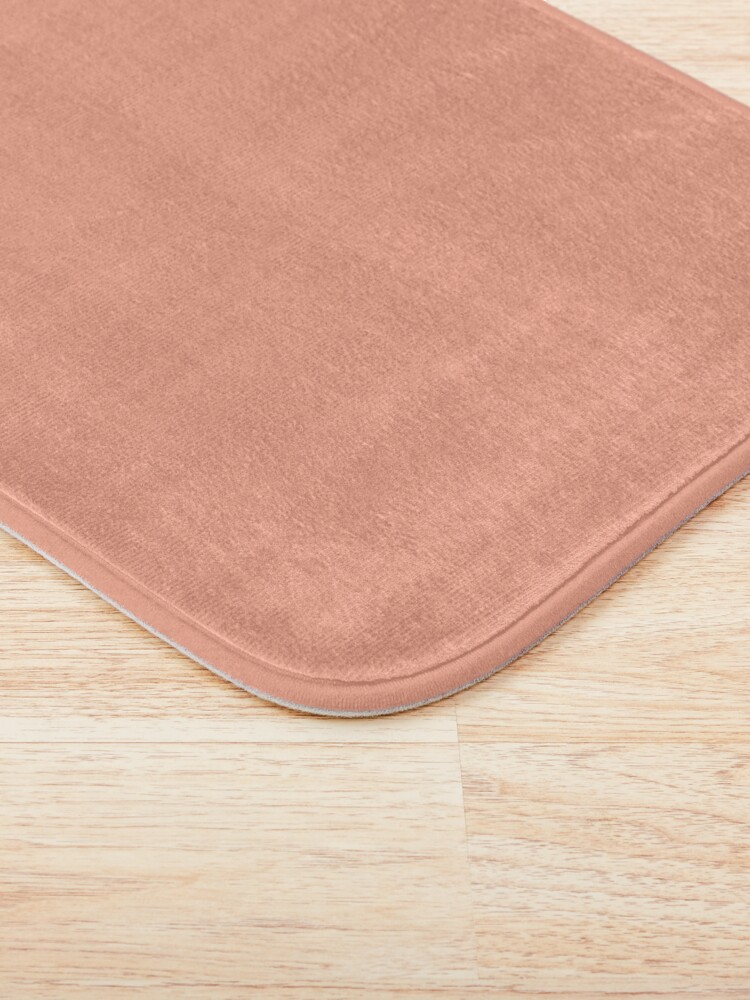 Alternate view of Peach Solid Color Bath Mat